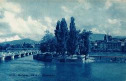 Genève - Ile J.J. Rousseau.