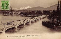 Genève et le Mont-Blanc.