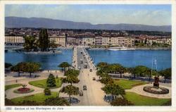 Genève et les montagnes du Jura.