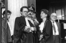 [Procès Klaus Barbie : Me Andreani-Jungblut et Gourion, avocats du M.R.A.P. (partie civile)]