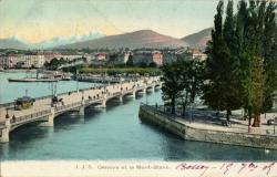 Genève et le Mont Blanc.