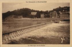 Un Dimanche à l'Ile Barbe : Le Barrage sur la Saône