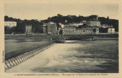 Saint-Rambert-L'Ile-Barbe (Rhône) : Barrage sur la Saône et coteaux de Caluire
