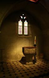 Châtillon-sur-Chalaronne, église Saint-André et Saint-Vincent-de-Paul, baptistère