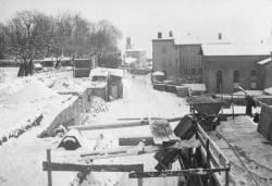 Vue du chantier après établissement du chemin d'accès