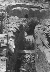 Vue du couloir au sommet du deuxième moenianum