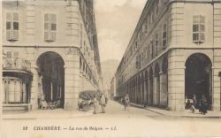 Chambéry : La rue de Boigne.