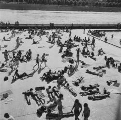 Bassin nautique en été : Quai du Rhône