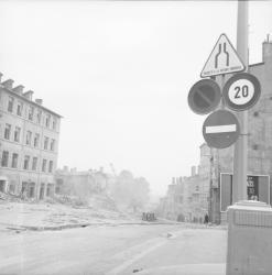 Rue des Farges en démolition