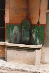 33, quai Arloing : fontaine et vasque de la cour intérieure