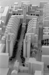 [Maquette du Centre urbain de Villeurbanne]