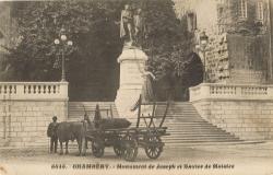 Chambéry : Monument de Joseph et Xavier de Maistre.