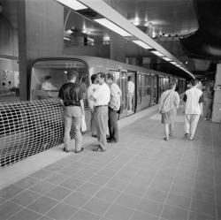 [Transports en commun de l'agglomération lyonnaise. Journées portes ouvertes à la station Gorge-de-Loup de la ligne D du métro avant exploitation]