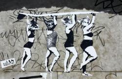 [Street art sur les quais de Saône]