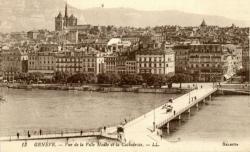 Genève - Vue de la Ville Haute et la Cathédrale.