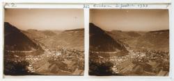 Le village de Cerdon, vu de la montée