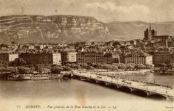 Genève - Vue générale de la Rive Gauche et le Lac