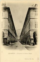 Chambéry : Perspective de la Rue de Boigne.