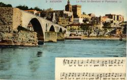 Avignon - Le Pont St-Bénézet et Panorama.
