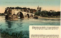 Avignon - Le Pont d'Avignon et le Palais des Papes.