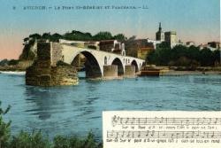 Avignon - Le Pont St-Bénézet et Panorama