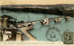 Avignon - Panorama pris de Notre-Dame des Doms. Pont Saint-Bénézet.
