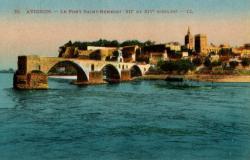 Avignon - Le Pont Saint-Bénézet (XIIe et XIVe siècles)