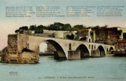 Avignon - Le Pont Saint-Bénézet (XIVe siècle)