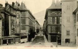 Chambéry : Place du Château et Rue de Boigne.