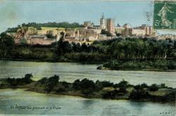 Avignon - Vue générale et le Rhône