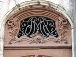 Imposte à monogramme, 1 place Ennemond-Fousseret