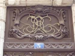 Imposte à monogramme, 3 rue Sainte-Marie-des-Terreaux