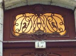Imposte à monogramme, 17 rue Sainte-Catherine
