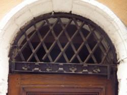 Imposte à treillis losangé, 3-5 rue du Petit-David