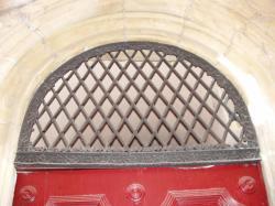Imposte à treillis losangé, 9 rue des Trois-Maries