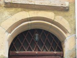 Imposte à treillis losangé, 15, rue des Trois-Maries