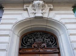 Imposte art nouveau, 1 rue de la Martinière