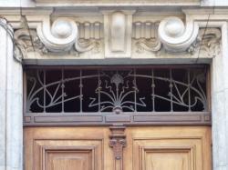 Imposte art nouveau, 3-5 rue Louis-Vitet
