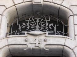 Imposte art nouveau, 4 rue de la Martinière