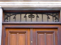 Imposte art nouveau, 5 rue de la Martinière