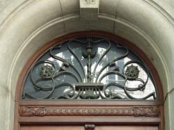 Imposte art nouveau, 14 avenue de Saxe