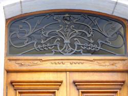 Imposte art nouveau, 8 place Saint-Vincent