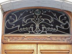 Imposte art nouveau, 27 rue de la Martinière