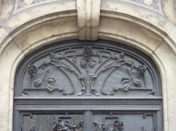 Imposte art nouveau, 132 rue de Sèze