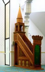 Grande mosquée de Lyon Badr Eddine, le minbar