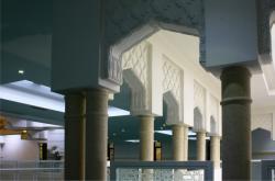 Grande mosquée de Lyon Badr Eddine, mezzanine, lieu de prière pour les femmes
