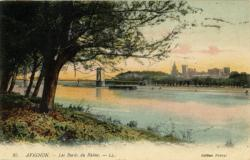 Avignon - Les bords du Rhône