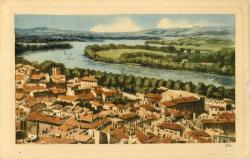 Avignon - Vue générale sur la Ville et le Rhône.