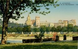 Avignon - Vue prise de Barthelasse.