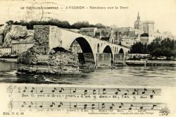 Avignon - Rondeau sur le Pont